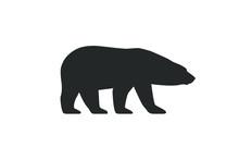 Polar Bear Graphic Icon. Arcti...