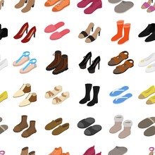 Shoes Concept Seamless Pattern...