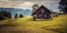 An Old Barn On Mount Rigi