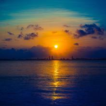 Sunrise Sea Sun Sunset Sky Clo...
