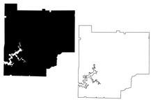 Cherokee County, Georgia (U.S. County, United States Of America,USA, U.S., US) Map Vector Illustration, Scribble Sketch Cherokee Map