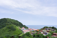 Cape Bitoujiao - View Of Mountains , School,Chinese Cemetery And  Nature On The East Coast Of Taiwan, Taipei