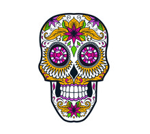 Floral Decorated Skull For Dia...
