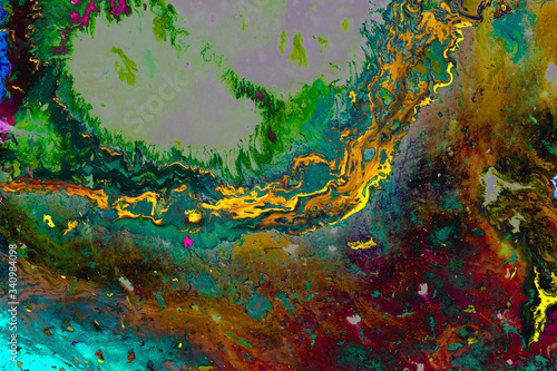 Fototapety, obrazy: Abstract grunge art background texture with colorful paint splashes.