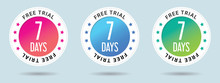 7 Days Free Trial Stamp Vector...