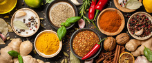 Various Spices And Herbs For C...