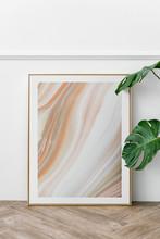 Golden Frame In Modern Home