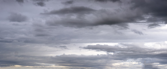 Overcast sky background with clouds