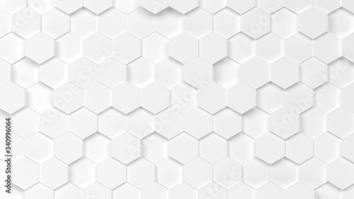 Abstract hexagon background Canvas Print