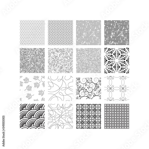 Vector pattern with seamless figures and line Fototapeta