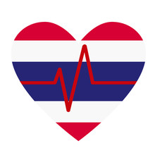 Heart Beat With Flag Of Thaila...