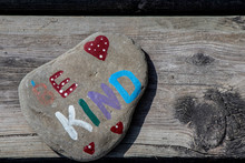 Be Kind Words Painted On A Rock