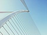 Samuel Beckett Bridge Against Clear Sky
