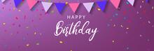 Happy Birthday Horizontal Bann...
