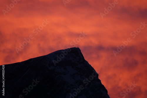 afterglow in the dolomites Canvas Print