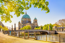 The Famous Berlin Cathedral At Summer