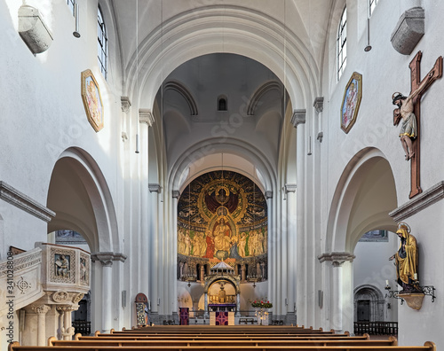 Photo Interior of parish church of St Anna in the Lehel district of Munich, Germany