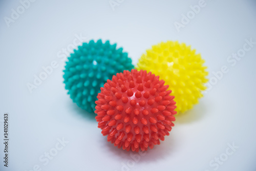 Vászonkép photos of massage balls of different colors