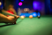 Close-up Of Snooker Table