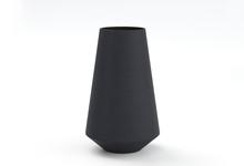 Black Flower Vase On A White B...