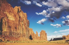 Rock Formations Against Sky At Monument Valley