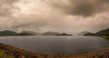 Panoramic View Of Lake Against...
