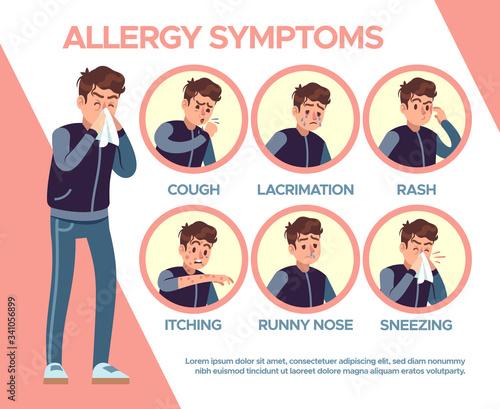 Obraz na plátně Allergy symptoms