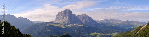 Fotografie, Obraz Panoramic View Of Mountains Against Sky
