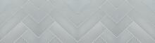 White Gray Geometric Herringbone Texture Tiles Background Banner Panorama Long