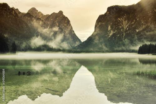 Fotografie, Obraz Scenic View Of Lake Against Sky
