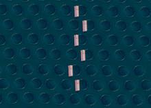 Aerial View Of Fish Farm Nets