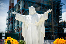 Low Angle View Of Jesus Christ Statue