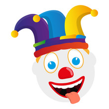 Isolated Happy Clown