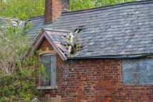 Damaged Slate Roof Tiles On A ...