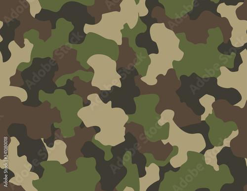 Cuadros en Lienzo Camouflage seamless pattern