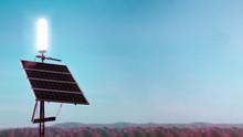 Solar Panels In The California...