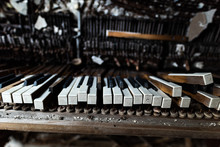 Detail Of Broken Grand Piano I...