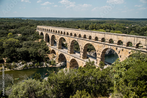 large ancient roman aqueduct in french riviera Canvas Print