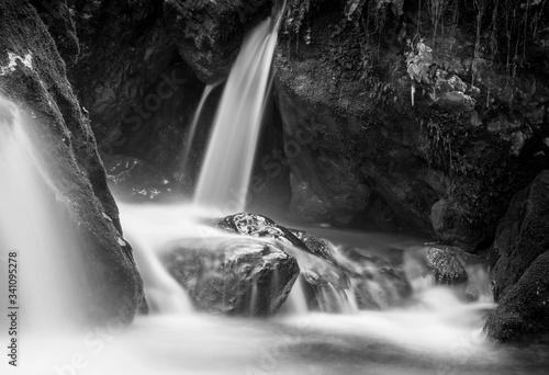 Low Angle View Of Waterfall - fototapety na wymiar