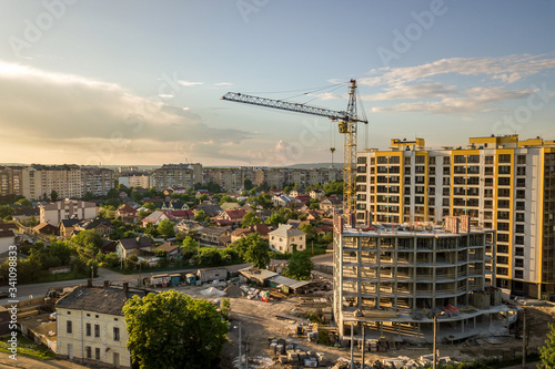 Fotografie, Obraz Apartment or office tall building under construction