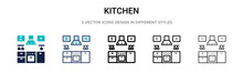 Kitchen Icon In Filled, Thin L...