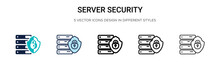 Server Security Icon In Filled...