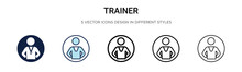 Trainer Icon In Filled, Thin L...