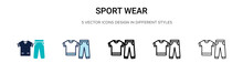 Sport Wear Icon In Filled, Thi...