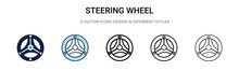 Steering Wheel Icon In Filled,...