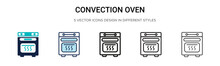 Convection Oven Icon In Filled...