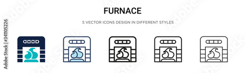 Fotomural Furnace icon in filled, thin line, outline and stroke style