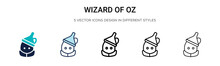 Wizard Of Oz Icon In Filled, Thin Line, Outline And Stroke Style. Vector Illustration Of Two Colored And Black Wizard Of Oz Vector Icons Designs Can Be Used For Mobile, Ui,