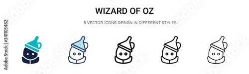 Fototapeta Wizard of oz icon in filled, thin line, outline and stroke style