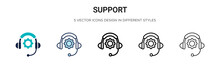 Support Icon In Filled, Thin L...
